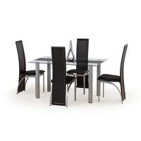 Francisco matbord svart - Glas