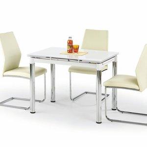 Aldona matbord 96-142 cm - Vit/krom