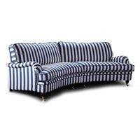 Howard Luxor svängd 5-sits soffa 300 cm - Valfri färg!