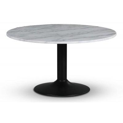 Empire matbord - Ljus marmor / Svart trumpetfot
