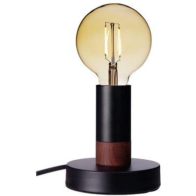 Spartan Wood bordslampa - Svart/mörkt trä