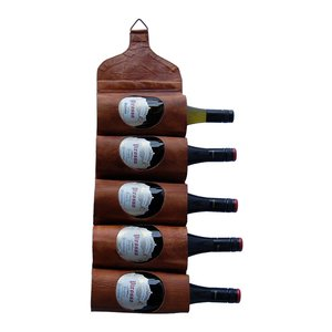 Ulricehamn vinhållare - vägghängd (läder)