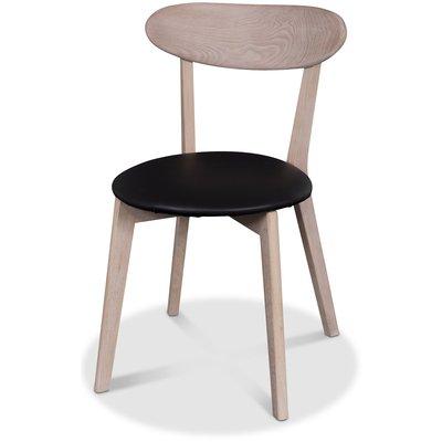 Tundra stol - Ljus ek / Svart PU