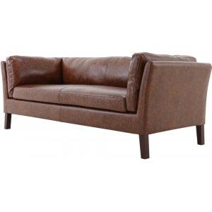 Davido 3-sits soffa - Brun