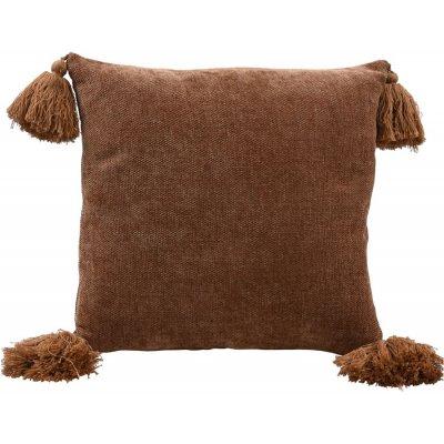 Tassle kuddfodral 45x45 cm - Brown