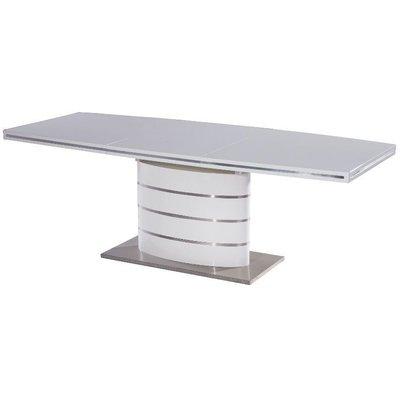 Matbord Caldwell 140 - 200 cm - Vit/stål