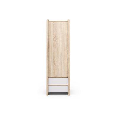Larsen garderob - Ek/vit högglans
