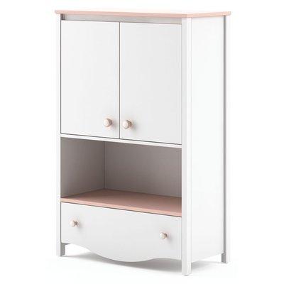Letitia skåp - Vit/rosa