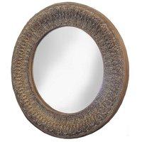 Spegel Giant rund - Antik träfärg