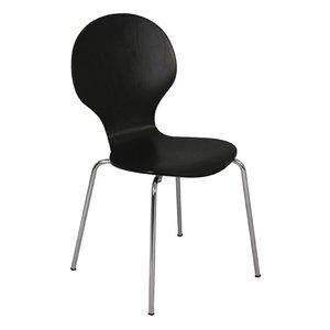 Mac stol - svart/krom