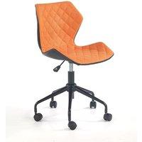 Albana skrivbordsstol - Svart/orange
