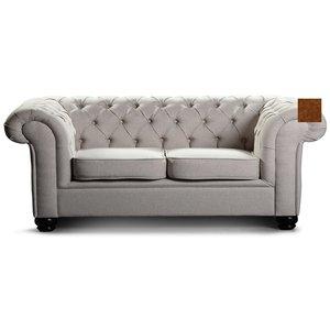 Chesterfield York 3-sits soffa - Kanel sammet