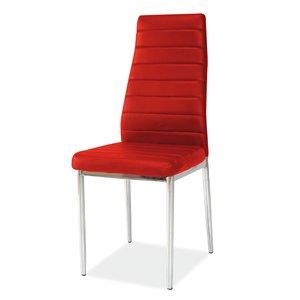 Stol Camarillo röd/krom