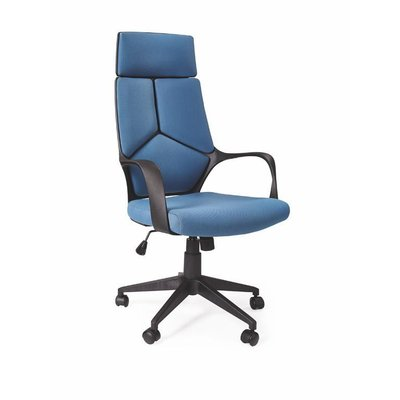 Cecylia kontorsstol - Svart/blå