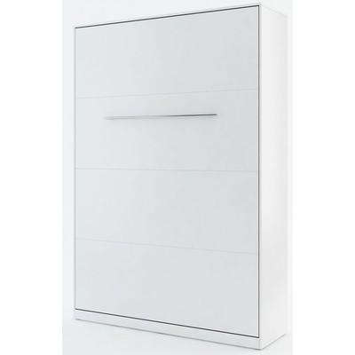 Sängskåp compact living Vertikalt (140x200 cm fällbar säng) - Vit (Matt)