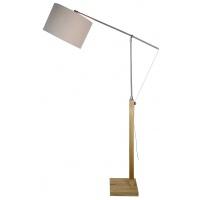 Masai stor golvlampa - Trä / Grå