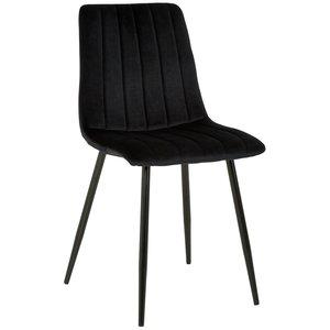 Kayla stol - Svart sammet