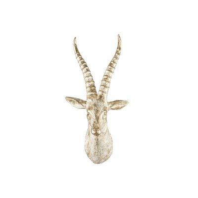 Väggdekoration Antilop - Guld/vit