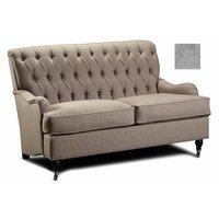 Howard Hamilton 2.5-sits soffa - Ljusgrå plysch