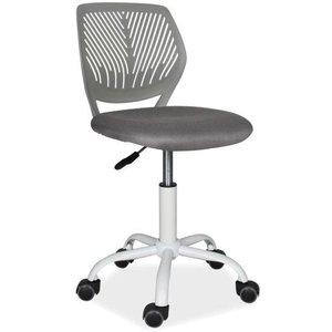 Skrivbordsstol Sidney - Grå/vit