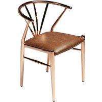 Delta stol - Koppar / brun