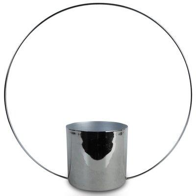 Kruka bågen H25 cm - Krom