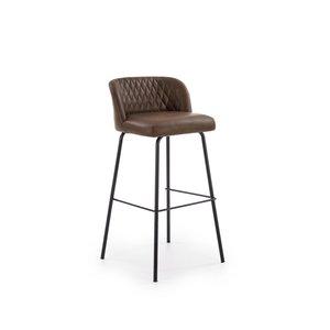 Orville barstol - Mörk brun/svart