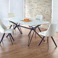 Berta matbord 160-200 cm - Vit/svart