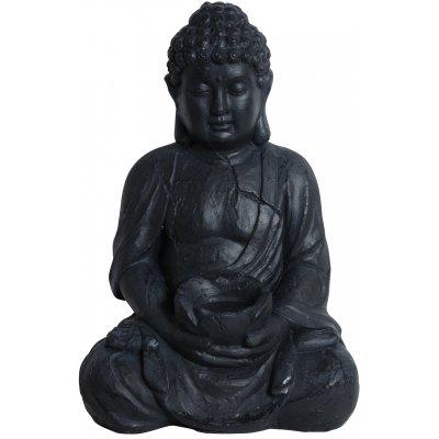 Buddha staty - Svart (Keramik)