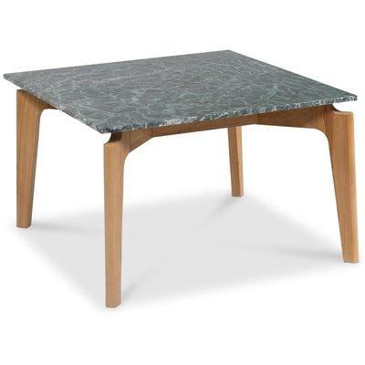 Accent soffbord 75 - Grön marmor / ek