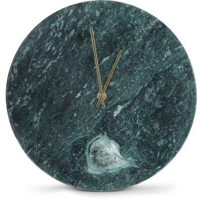 Klocka Marmor - Grön