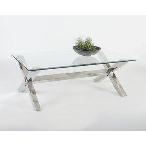 Malta soffbord - Krom/Glas