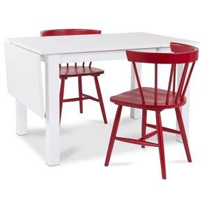 Sander matgrupp Klaffbord + 2 st röda karmstolar