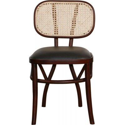 Siknäs stol - Brun/svart PU