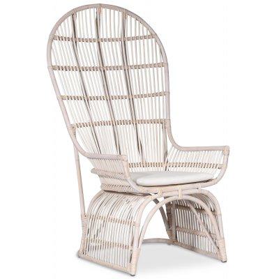 Mandarin Påfågel stol - Whitewash