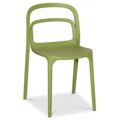 Nordanå matstol stapelbar - Grön (Plast)