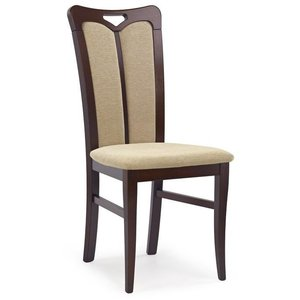 Lola 2 stol - mörk valnöt/beige