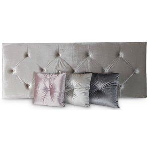 Kronan sänggavel vägghängd - Beige (sammet)