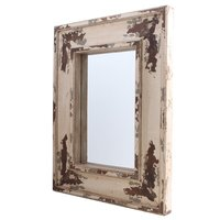 Spegel antik - Vit