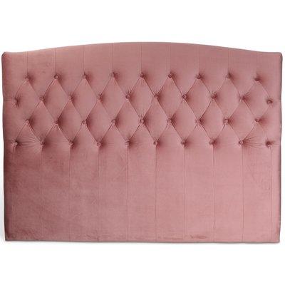 Love sänggavel med knappar (Rosa sammet) - Valfri bredd