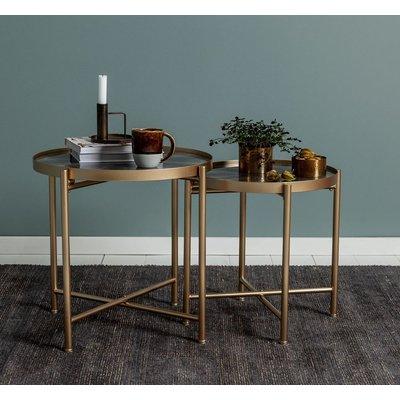 Satsbord Harper - Guld/grå