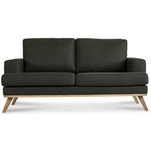 Ventura 2-sits soffa - Mörkgrön (tyg)