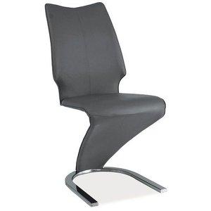 Lindsey stol - Grå/krom
