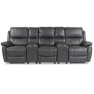 Hollywood Bio-Recliner 3-sits (el) - Grått Ecoläder