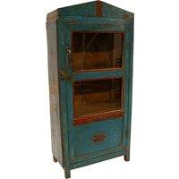 Dominic vitrinskåp - Vintage blå