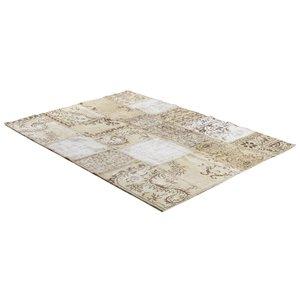 Patchwork-matta Persia (beige) - Äkta patchwork