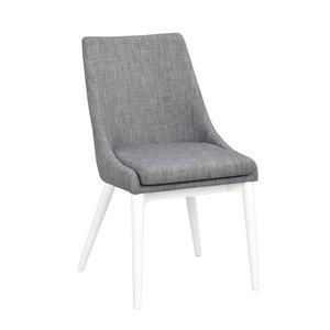 Bethan stol - Mörkgrå/vit