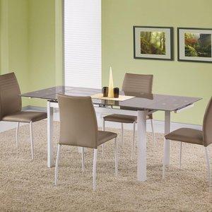 Genevieve matbord 120-180 cm - Vit/beige