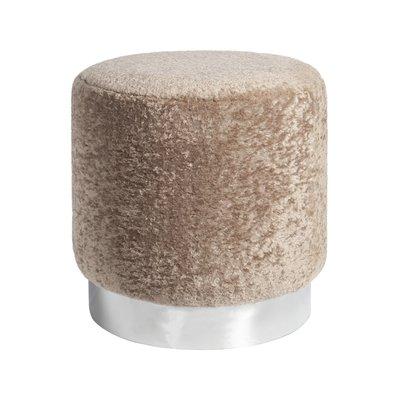 Furry sittpuff - Beige / Krom