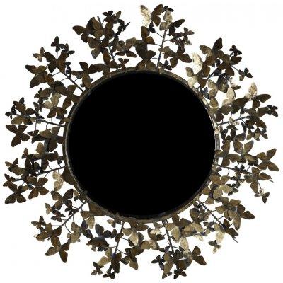 Fjäril spegel rund 80 cm - Antik